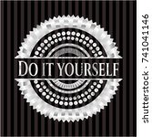 do it yourself silvery shiny... | Shutterstock .eps vector #741041146