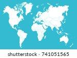 world map | Shutterstock .eps vector #741051565