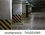 almost empty underground ... | Shutterstock . vector #741051985