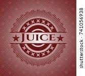 juice red emblem. vintage.   Shutterstock .eps vector #741056938