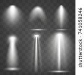 set vector spotlights. scene.... | Shutterstock .eps vector #741058246