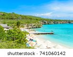 porto marie beach   white sand... | Shutterstock . vector #741060142