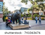 los angeles  ca  october 20 ... | Shutterstock . vector #741063676