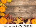 Fall Color Wood Background...
