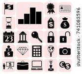 set of 22 business icons ...   Shutterstock .eps vector #741083596