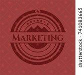 marketing vintage red emblem | Shutterstock .eps vector #741083665