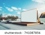 contemporary wooden stage in... | Shutterstock . vector #741087856