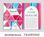 abstract vector layout... | Shutterstock .eps vector #741092542