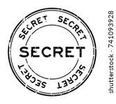 grunge black secret round... | Shutterstock .eps vector #741093928