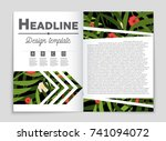 abstract vector layout... | Shutterstock .eps vector #741094072