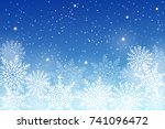 winter background with white... | Shutterstock .eps vector #741096472