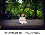 cute little baby boy  kid... | Shutterstock . vector #741099088