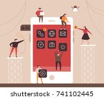 small people character... | Shutterstock .eps vector #741102445