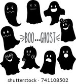 ghost hand sketch black | Shutterstock .eps vector #741108502