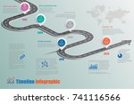 business road map timeline... | Shutterstock .eps vector #741116566