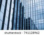 background of the glass modern...   Shutterstock . vector #741128962