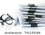 extreamely close up  stacking... | Shutterstock . vector #741139186