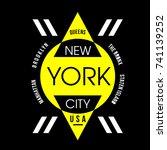 new typography urban t shirt... | Shutterstock .eps vector #741139252
