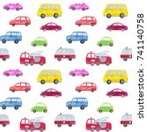 automotive seamless pattern... | Shutterstock . vector #741140758