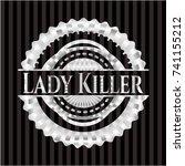 lady killer silver emblem | Shutterstock .eps vector #741155212