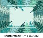 detailed bracken herbs image ... | Shutterstock .eps vector #741160882