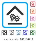 workshop icon. flat grey iconic ...