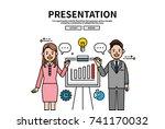 flat line vector editable... | Shutterstock .eps vector #741170032