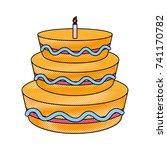 birthday cake design | Shutterstock .eps vector #741170782