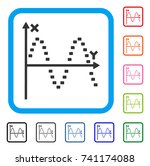 dotted sine plot icon. flat...