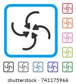 vortex arrows icon. flat grey... | Shutterstock .eps vector #741175966
