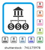bank structure icon. flat gray...