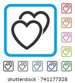 love hearts icon. flat grey...