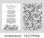 vintage delicate invitation... | Shutterstock .eps vector #741179968