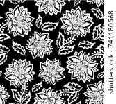 indian floral paisley seamless... | Shutterstock .eps vector #741180568