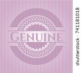 genuine badge with pink... | Shutterstock .eps vector #741181018