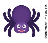 cute halloween spider | Shutterstock .eps vector #741189145