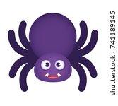 cute halloween spider | Shutterstock .eps vector #741189145