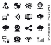 16 vector icon set   share ... | Shutterstock .eps vector #741191965