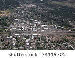 Aerial Of Downtown Flagstaff I...