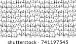 seamless patterns with cute... | Shutterstock .eps vector #741197545