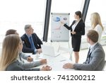 business people team at... | Shutterstock . vector #741200212