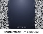 christmas and new year dark... | Shutterstock .eps vector #741201052