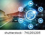 ai artificial intelligence and... | Shutterstock . vector #741201205