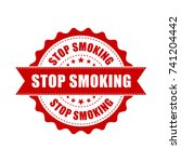 stop smoking grunge rubber... | Shutterstock .eps vector #741204442