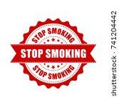 stop smoking grunge rubber... | Shutterstock .eps vector #741204442