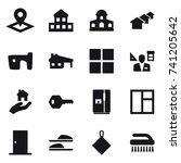 16 vector icon set   pointer ... | Shutterstock .eps vector #741205642