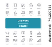 line icons set. college pack.... | Shutterstock .eps vector #741207586
