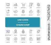 line icons set. online shop...