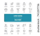 line icons set. delivery pack....