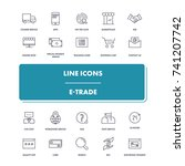 line icons set. e trade pack.... | Shutterstock .eps vector #741207742